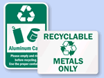 More Metal Recycling Labels