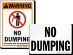 Custom No Dumping Signs