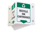 Projecting Recycling Sign