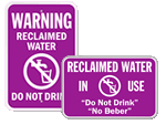 Reclaimed Water Signs