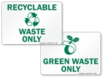 Recyclable Waste Signs