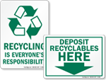 Recycle Here Signs & Labels