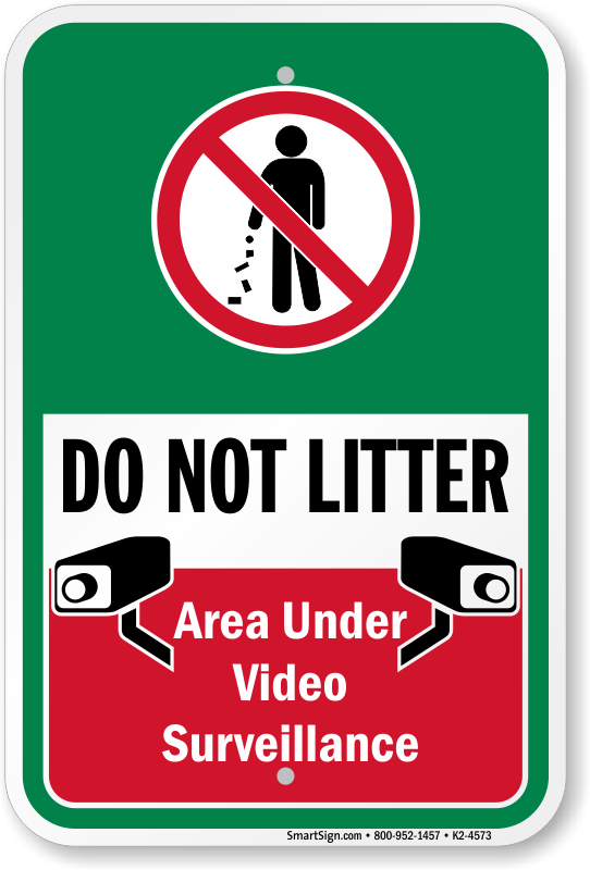Do Not Litter Signs - Don't Be a Litterbug Signs