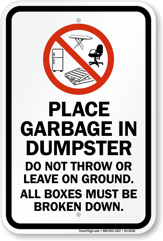 Garbage Signs