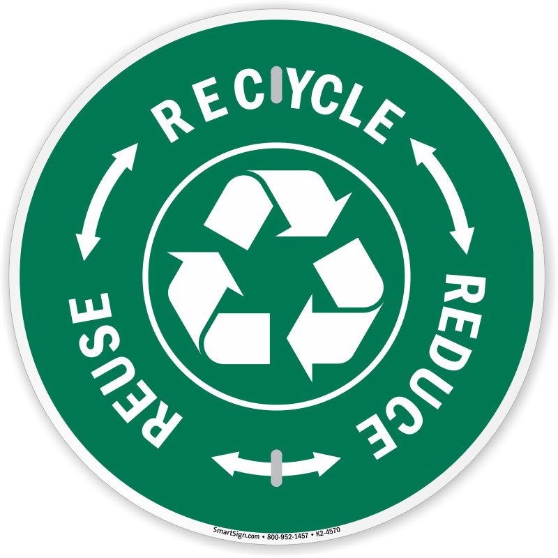 Recycle Here Signs Recycling Here Labels