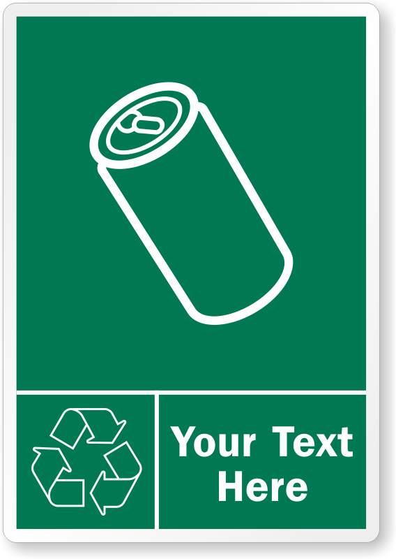 Custom Recycle Aluminum Cans Label Add Text Choose