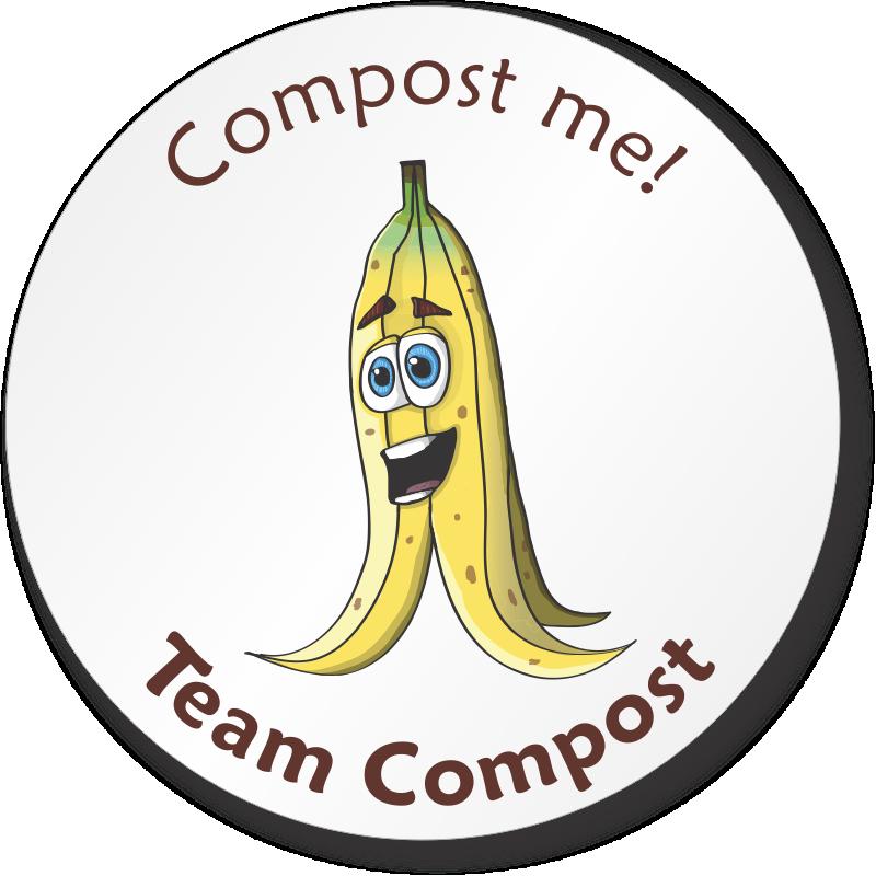 Compost Me Team Compost Sticker Pedro Banana Graphic Signs Sku