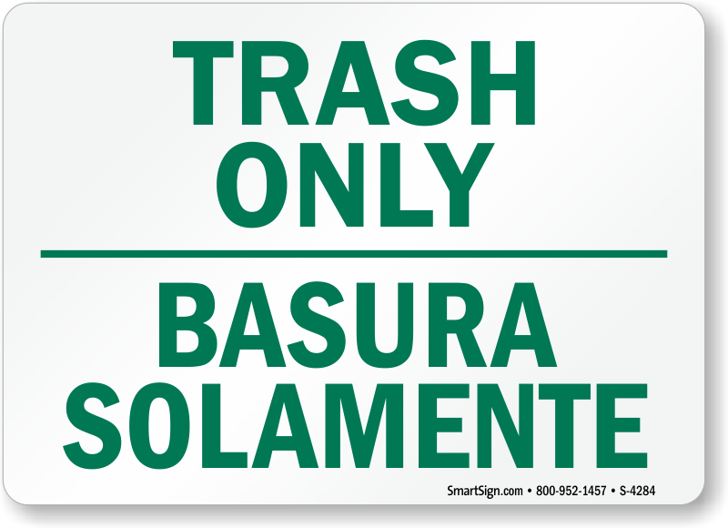 photo about Trash Sign Printable known as Trash Merely Symptoms - Deposit Trash In this article Indications
