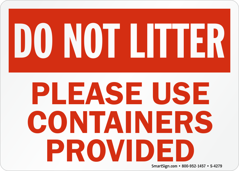 dont be a litter bug