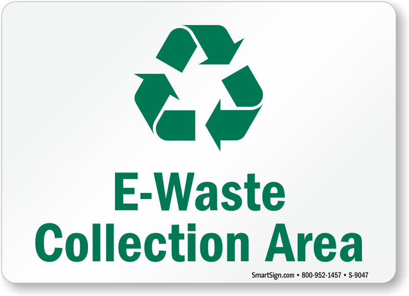 Electronic Recycling Signs Labels