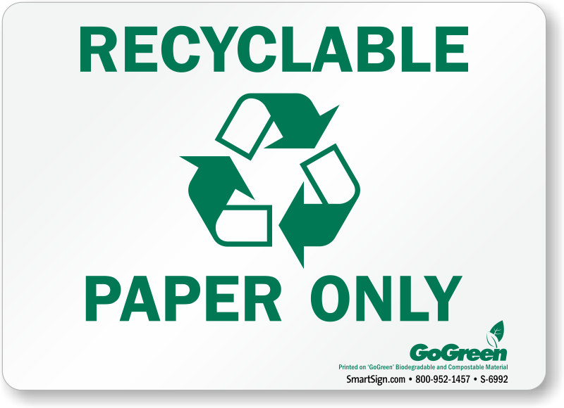 paragraph on recycling of paper