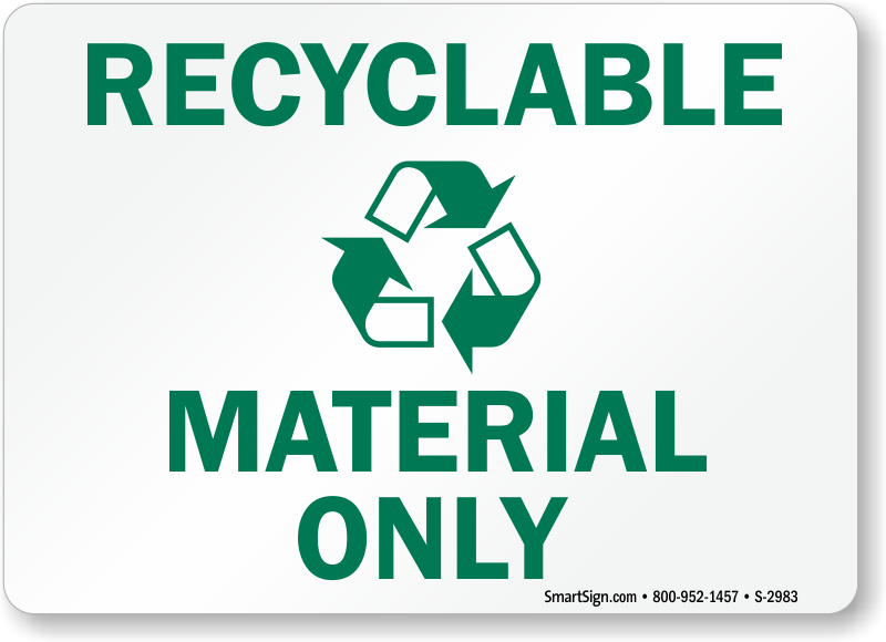 photograph about Recycle Signs Printable called Totally free Recycling Labels Printabele Recycling Stickers PDFs