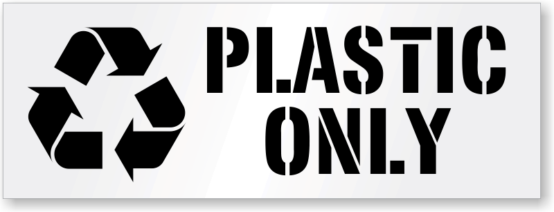plastic only stencil