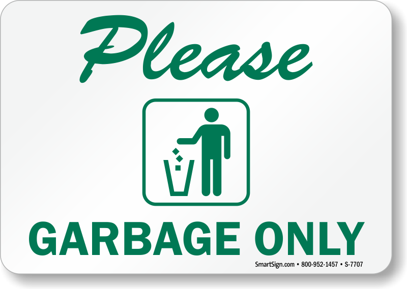 photograph regarding Trash Sign Printable known as Trash Simply just Symptoms - Deposit Trash In this article Signs or symptoms