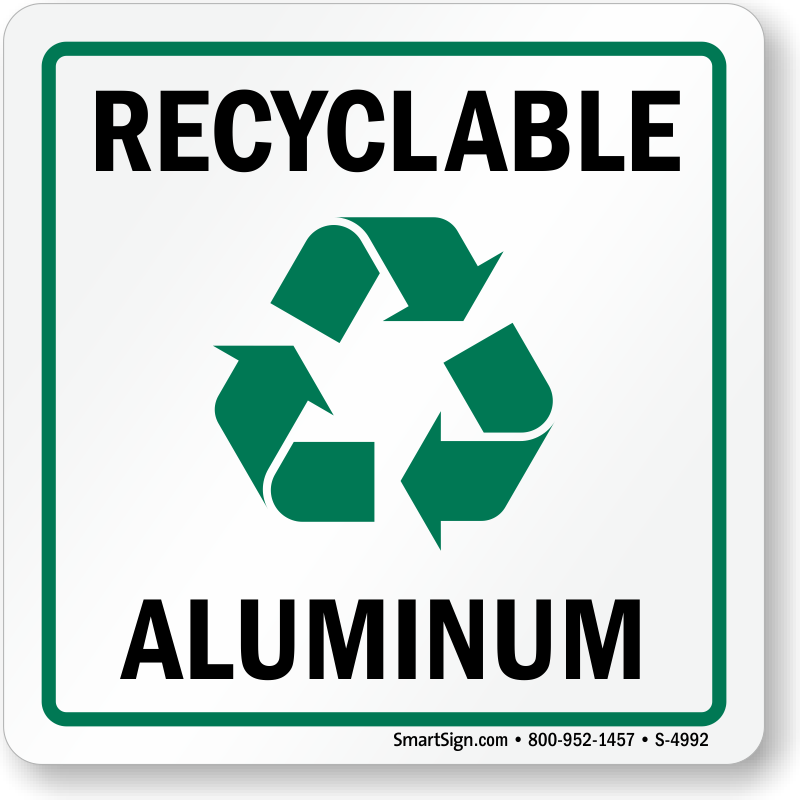 Recyclable Aluminum Label With Graphic Sku S 4992