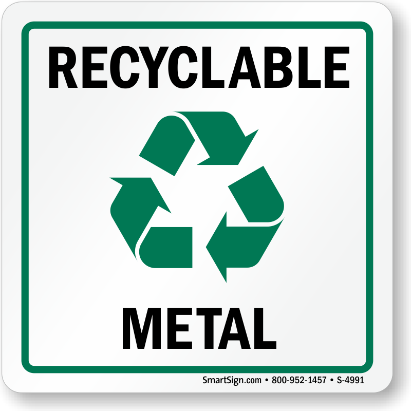 Recycle Metal Label With Graphic Sku S 4991