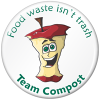 Food Waste Isn't Trash Mac Apple Compost Button