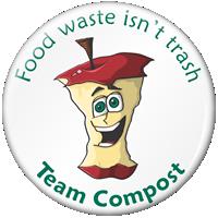 Food Waste Isn't Trash Mac Apple Compost Button