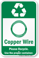 Copper Wire Please Recycle Sign