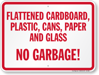 No Garbage No Trash Sign
