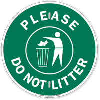 Please Do Not Litter Recycling Sign
