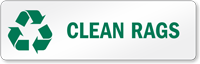 Clean Rags Recycling Label