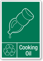 Cooking Oil Recycling Label