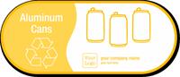 Custom Aluminum Cans, Recycling Symbol Vinyl Sticker