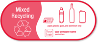 Customizable Mixed Recycling Vinyl Sticker with Graphic