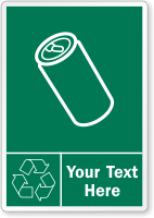 Custom Recycling Aluminum Cans Label