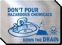 Don't Pour Hazardous Chemicals Label