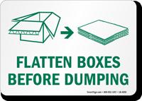 Flatten Box Before Dumping Recycling Label