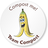 Pedro Banana Graphic, Team Compost Sticker