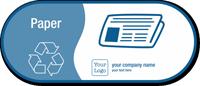 Paper, Recycle Symbol Custom Vinyl Recycling Sticker