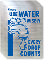 Please Use Water Wisely Label