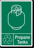 Propane Tanks Recycling Label