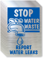 Stop Water Waste Label