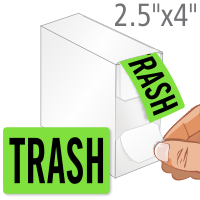 Trash Shipping Packaging Label Dispenser