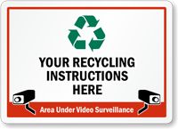Custom Recycling Sign - Add Instructions