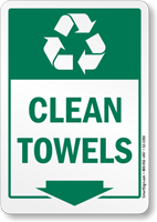 Clean Towels Graphic Recycling Label