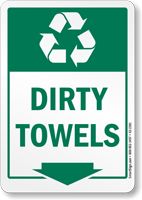 Dirty Towels Graphic Recycling Label