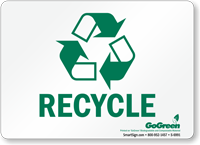 GoGreen Recycle (With Symbol) Sign