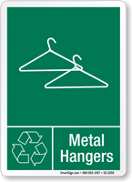 Metal Hangers Graphic Recycling Label