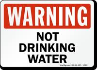 Warning: Not Drinking Water
