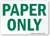 Paper Sign