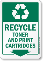 Recycle Toner And Print Cartridges Label