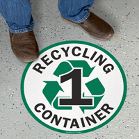 Recycling Container -1 Floor Sign