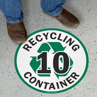 Recycling Container -10 Floor Sign