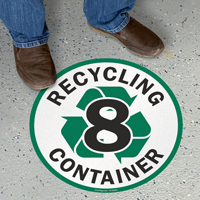 Recycling Container -8 Floor Sign
