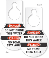Danger Do Not Drink This Water Door Hang Tag